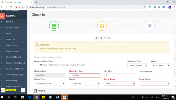 Hotel Check in Management Software