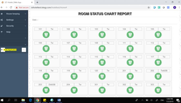 Hotel Software Room Status Chart Report