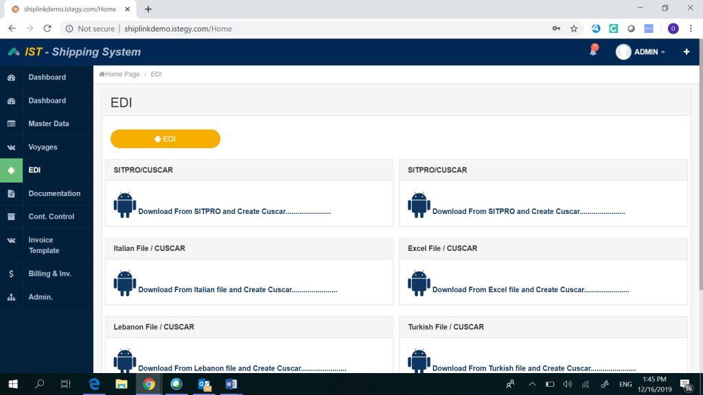 Shipping System EDI & XML